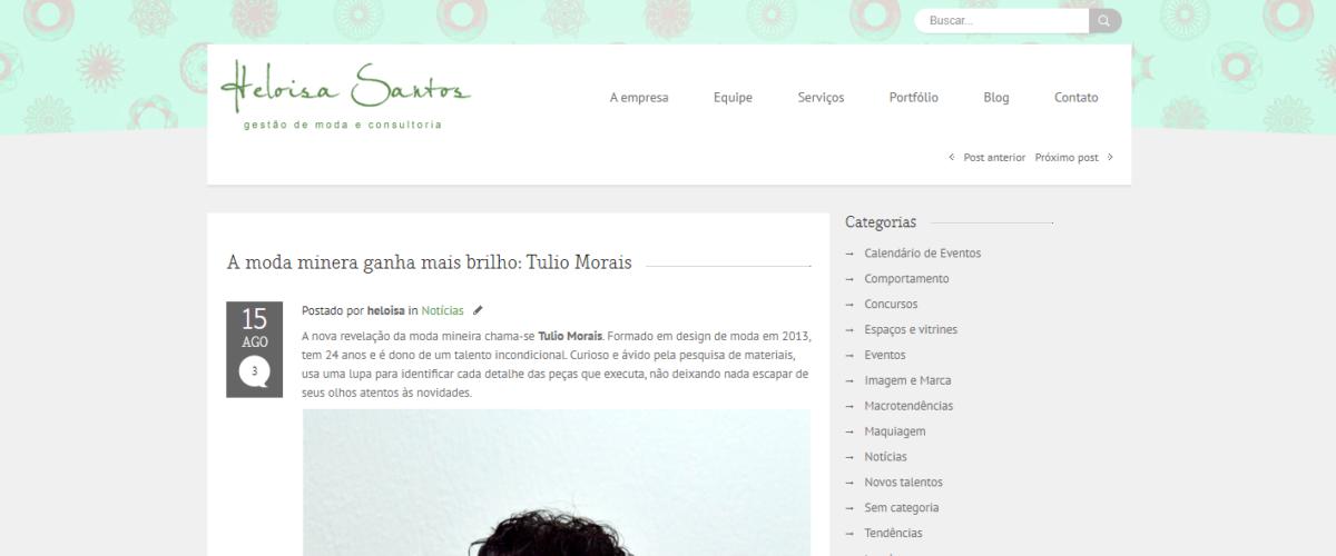 Heloisa Santos – A moda minera ganha mais brilho: Tulio Morais